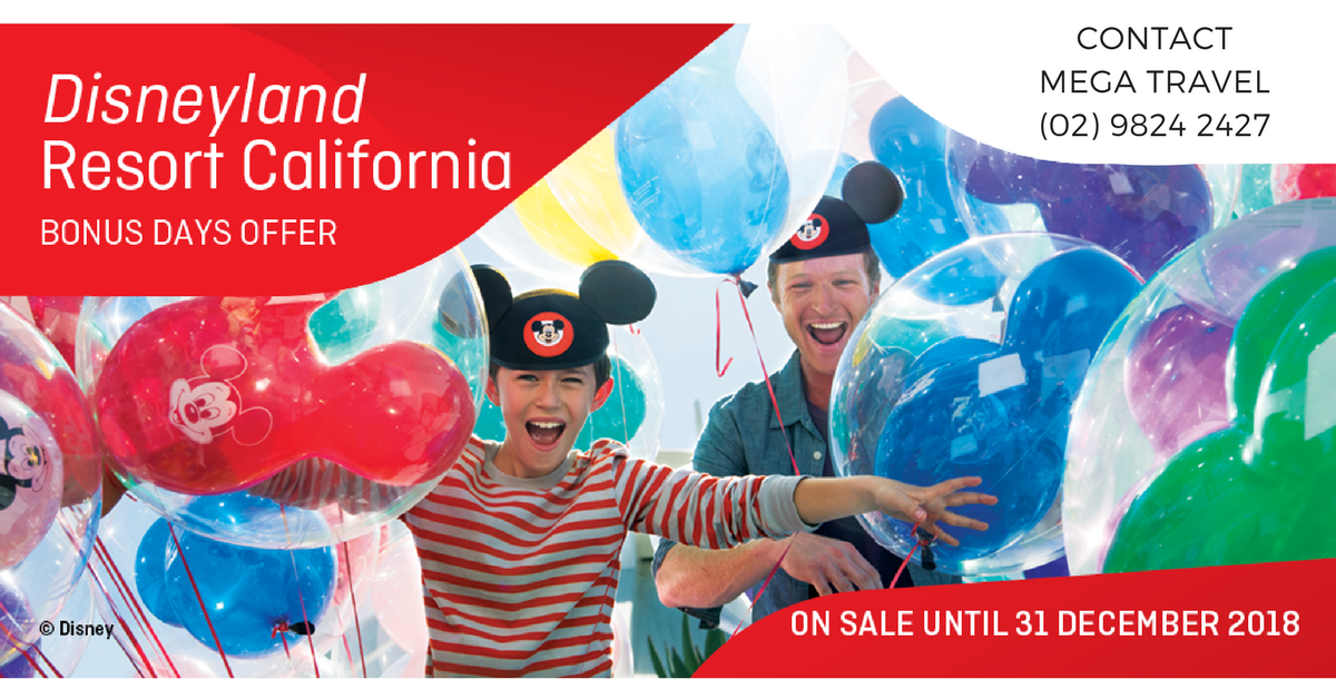DISNEY BONUS DAYS OFFER